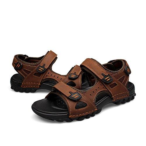 Spiaggia Arco Sandalo Con Footwear Mens Velcro Brown Supporto LXXA Facile Sandali Estate Athletic Grande Atletico Fissare Di HxznAIOwq