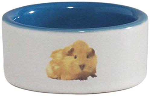 Beeztees Mangeoire en Céramique avec Photo d'Hamster pour Hamster Blanc/Bleu 7,5 cm