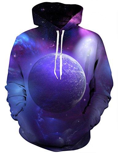 LAIDIPAS Unisex 3D Printing Drawstring Sport Hoodie Leichter Pullover mit großen Taschen für Männer und Frauen L (Tall Tasche)