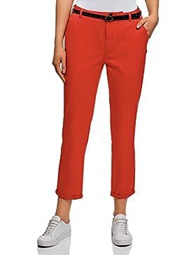 oodji Ultra Mujer Pantalones Chinos Básicos