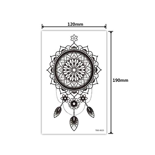 Guys For Man - Konsait Extra Fake Temporary Tattoo Black Tattoo Body Stickers Arm Shoulder Chest & Back Make Up ()
