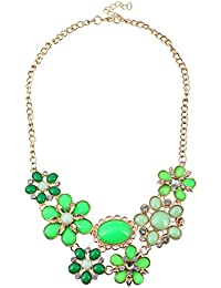 TBOP NECKLACE THE BEST OF PLANET Simple And Stylish Jewelry Fresh Leaves Flower Sunflowers Necklace In Green Color