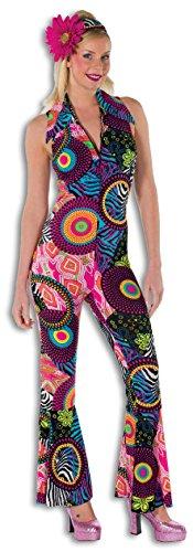 L3201720-40 Damen Hippie Overall-Catsuit-Kostüm Gr.40