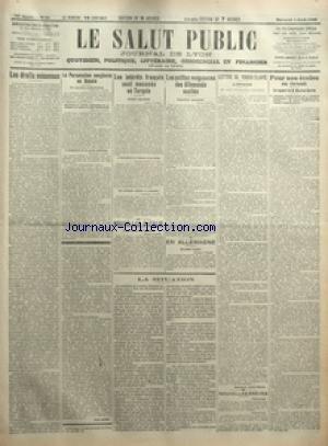 SALUT PUBLIC (LE) [No 94] du 04/04/1923 - LES DROITS MECONNUS PAR HENRI MORO - LA PERSECUTION SANGLANTE EN RUSSIE - LES INTERETS FRANCAIS SONT MENACES EN TURQUIE - NOUVELLES D'ITALIE - LES PETITES VENGEANCES DES ALLEMANDS EXCITES - EN ALLEMAGNE - LA SITUATION - LETTRE DE YOUGO-SLAVIE - L'OPINION PAR ENNEMOND SAINT-GENIS - NOUVELLES BREVES - POUR NOS ECOLES EN ORIENT - UN RAPPORT DE M MAURICE BARRES - LA DEMANDE D'AUTORISATION DE L'INSTITUT MISSIONNAIRE DES FRERES DES ECOLES CHRETIENNES - M PIER par Collectif