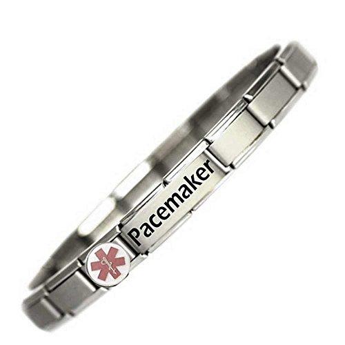 """JSC Jewellery Armband mit Aufschrift """"Pacemaker"""" (Herzschrittmacher), medizinisches ID-Armband, EinheitsgrößeVerstellbares Armband von JSC Jewellery; Spezialist für medizinische ID-Armbänder"""