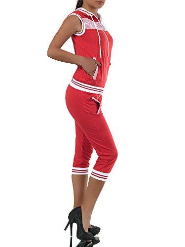 Diva-Jeans -  Tuta da ginnastica  - relaxed - A righe - Maniche lunghe  - Donna Rot