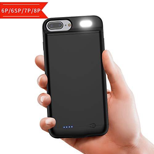 Akku Hülle für iPhone 6Plus 6S Plus 7Plus 8Plus, [7000mAh] Power bank Externe Handyhülle Batterie, Tragbarer Akku Externer Schutzhülle Wiederaufladbare Akku Case für iPhone 6P 6SP 7P 8P (5.5\'\')