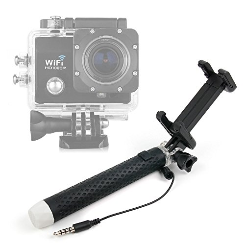 DURAGADGET Palo Selfie (Selfie-Stick) para Cámaras Deportivas o de acción Excelvan Q3 / Q5 / DV Y8 / Elephone ELE CAM Explorer