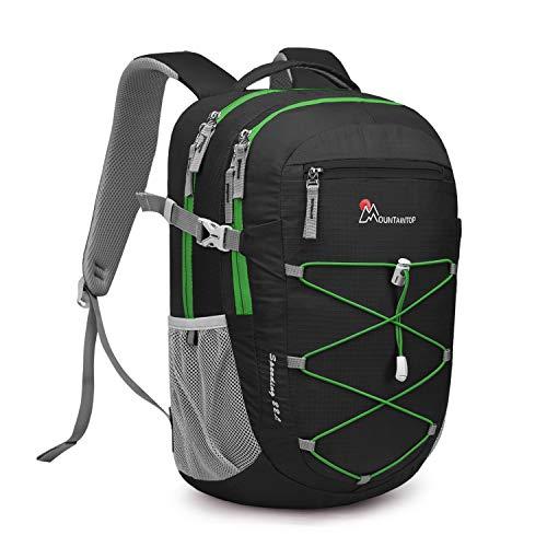 MOUNTAINTOP 22 Liter Rucksäcke Damen Herren Backpack Wanderrucksack Trekkingrucksack Outdoorrucksack Daypacks (Schwarz)