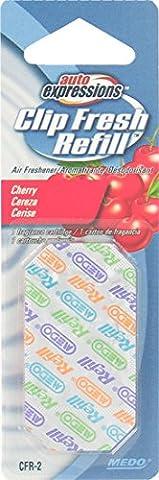 Auto Expressions Clip Fresh Refill Cherry Air Freshener