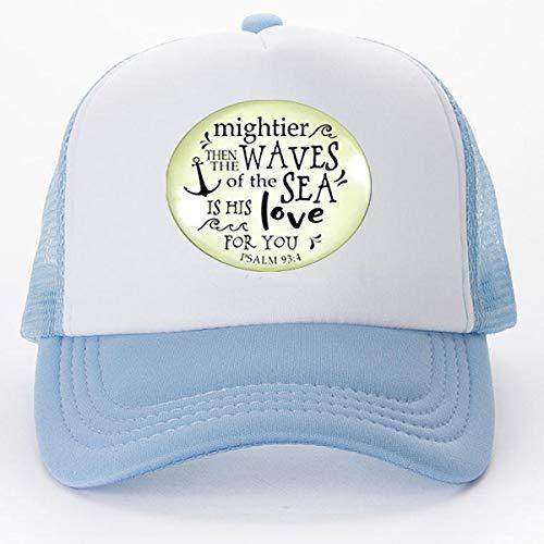 anhänger Mightier Than The Waves christlich inspirierte Bibelzitat God's Love Verse Damen Schmuck Geschenk Baseball Cap Golf Apps Hat Literary Schmuck ()