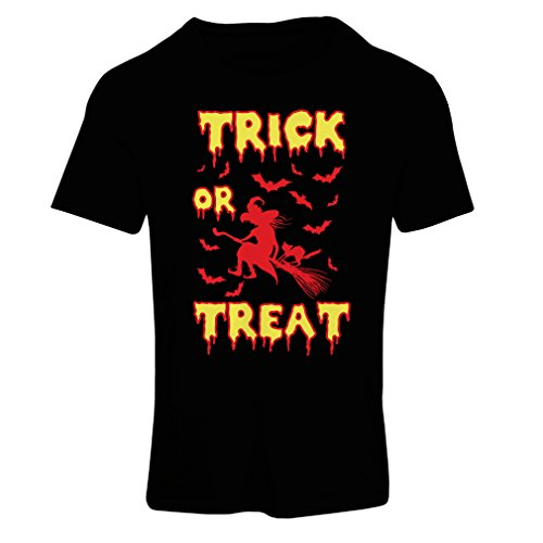 Frauen T-Shirt Trick or Treat - Halloween Witch - Party outfites - Scary costume (X-Large Schwarz Mehrfarben) (T-shirt Fitted Cowgirl)