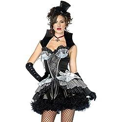 Halloween/traje/para las mujeres/falda sexy/fiesta/ el vampiro/ brujas/ mascarada-negro un tama?o