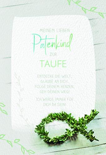 Karte Patenkind zur Taufe, Taufkarte Junge, Taufkarte Mädchen, Glückwunschkarte Taufe | DIN B6 | 17,1 x 11,7cm | Karte mit Umschlag, Motiv: Fisch