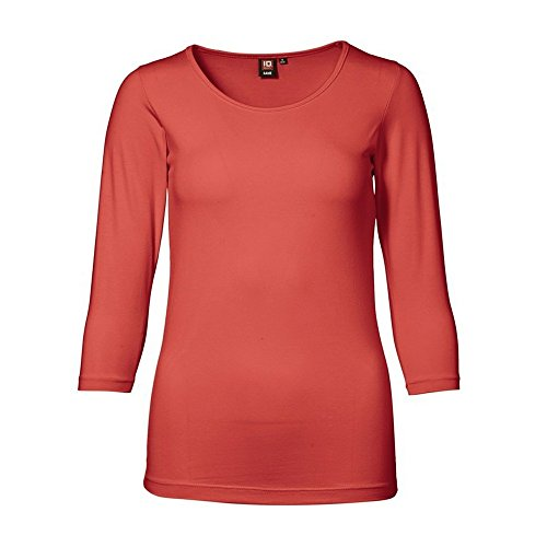 ID Damen Stretch T-Shirt | 3/4-Arm Coral