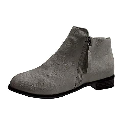 Yesmile Stiefeletten Damen Klassischer Stiefeletten Stiefel Boots Winter Warme Gefüttert Winterstiefel Schneestiefel Winterschuhe (Klassische Halbschuhe Gefütterte)