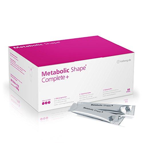 Metabolic Shape Complete+ Die effektiven 3-Komponenten für gesundes Abnehmen - Aktive Kulturen + Vitamine + Ballaststoffe - Stoffwechsel - Darmflora - Verdauung - Gewichtsreduktion - Stoffwechselkur -Diät