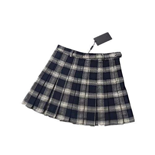Frühling Sommer Harajuku Frauen Mode Röcke Nette Gelb Schwarz Rot Gitter Faltenrock Punk Stil Hohe Taille Weiblichen Kurzen Rock