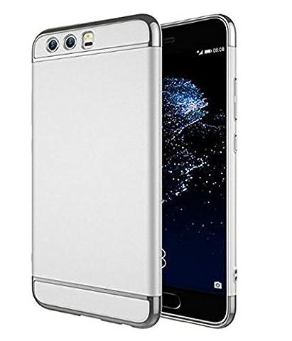 Vanki ® Huawei P10 Hülle, Mode-Design Hochwertige ultra-dünnen anti-dropping PC Standplatz Abdeckung Hülle für Huawei P10 (Huawei P10, silber)
