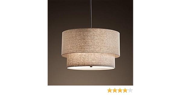 Ywyun moderno lampadario in lino doppio lampada da soffitto