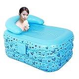 INFLATABLE BATH HOME Vasca da bagno gonfiabile Vasca da bagno pieghevole Vasca da bagno portatile Vasca da bagno in plastica Vasca idromassaggio Vasca da bagno Vasca da bagno per famiglie (Colore: blu