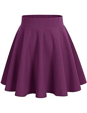 Dresstells®Falda Mujer Mini Corto Elástica Plisada Básica Multifuncional