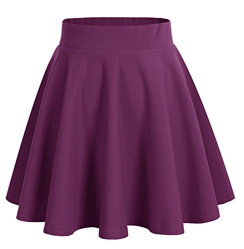 dresstells-jupe-mini-courte-evasee-en-polyester-raisin-s