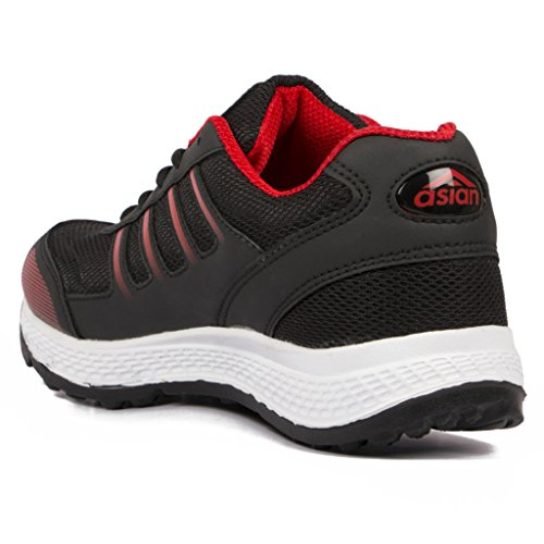 ba148b50a Buy Asian Shoes Future-13 Black Red Mesh Men Shoes on Amazon ...