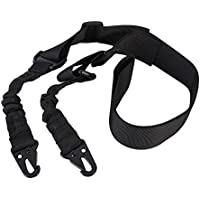 Kasit 1PC Nylon Multi-function Adjustable Tactical Bungee Sling Airsoft Hunting Gun Strap - 3 Types Point Sling