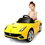 Kinder Elektroauto,Musik Licht Ferngesteuerter/Sitzen Kleinkind Car/Ferrari / Kinderwagen/Auto,Yellow