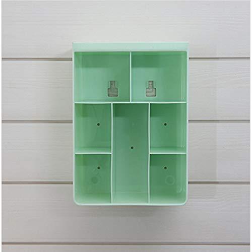 Prima05Sally Multi Grids Wand Lagerregal Kosmetik Toilettenartikel Halter Kleinigkeiten Lagerregal Bad Organizer -