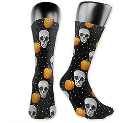 Calaveras y calabazas, calcetines deportivos para hombre y para mujer