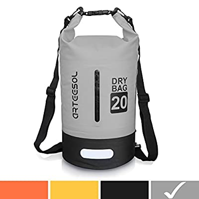 Arteesol Dry Bag 5L/10L/20L/30L Waterproof Dry Bag Rucksack with Double Shoulder Strap Backpack for Swimming Kayaking Boating Fishing Travelling Cycling Beach [4 Colours] by Arteesol