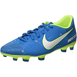 Nike Mercurial Vortex III NJR FG, Chaussures de Football Homme, Turquoise White/Blue Orbit/Armory Navy Volt, 42 EU