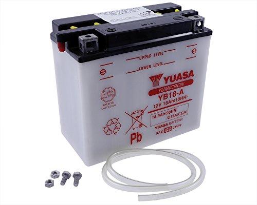 Batterie YUASA - YB18-A für ARTIC CAT F5 LXR Baujahr 07-12 [inkl. 7,50 EUR Batteriepfand] -