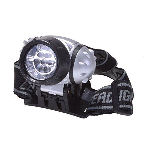 7 LED Kopflampe & Stirnlampe Leuchtstärke 3 Stufig Einstellbar