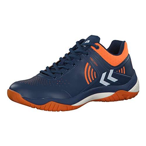 hummel Unisex-Erwachsene DUAL Plate Impact Multisport Indoor Schuhe, Blau (Poseidon 8616), 44 EU