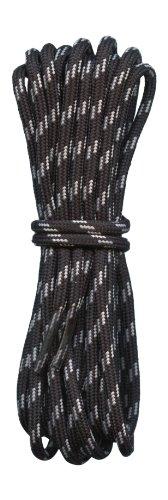 Fabmania Lacets Ronds pour bottes Noir et Gris 4mm diametre