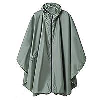 Black Trench Coat Fashion Style Hooded Women Unisex Raincoat Outdoor Rain Poncho Waterproof Rain Coat Rainwear