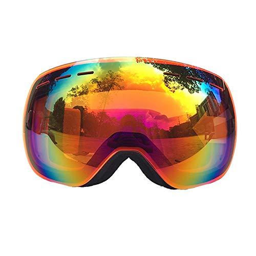 Aienid Fahrradbrille Beschlagfrei Orange Skibrille Winddichter Augenschutz Size:22.5X10.8CM