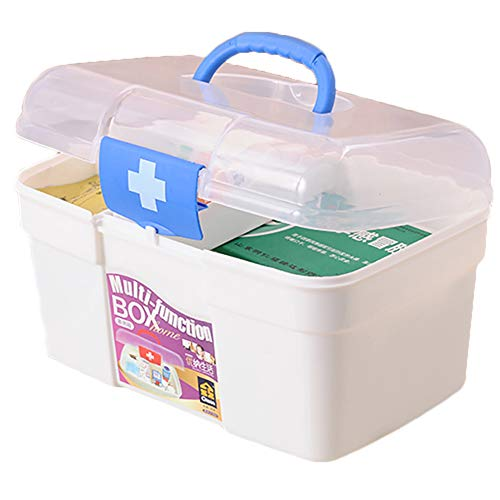 41dDwIe9sgL - Ouken Caso Gabinete Caja de la Medicina Medicina de Primeros Auxilios Caja Multifuncional de Medicina de estaño Protable Drogas Box