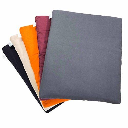 Tapis de méditation »Zabuton« / 100% Coton / 80 cm x 90 cm x 4 cm / Disponible dans de nombreuses couleurs magnifiques / beige