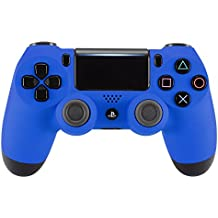 eXtremeRate® Soft Touch Grip Azul Fundas Carcasa Dura para Mando Frontal Shell Placa Faceplates para Playstation 4 PS4 Slim PS4 Pro Controller JDM-040