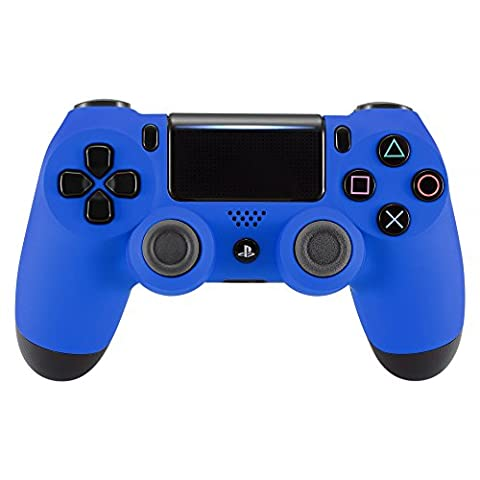 eXtremeRate® Soft Touch Grip Blue Front Housing Shell Faceplate for Playstation 4 PS4 Slim PS4 Pro Controller (Model CUH-ZCT2 JDM-040)