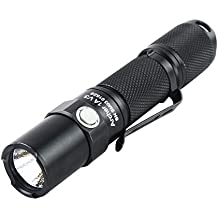 ThruNite® Archer 1A V3 Great Value, 200 Lumens, Econimical AA Battery, Long Runtime, Orange Peel Reflector, Wide Working Voltage, Stainless Steel Strike Bezel, Waterproof, 5-Mode, Memory Function, Firefly, Strobe, Reliable AA Flashlight! (Archer 1A V3 Neutral White)