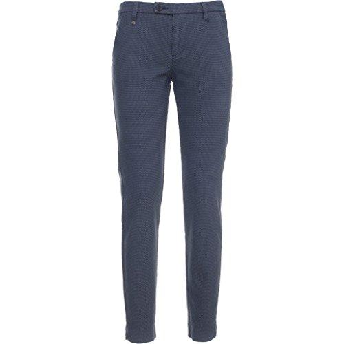 A664450D-200.Pantalone tasca francese risvolto.Blu.28