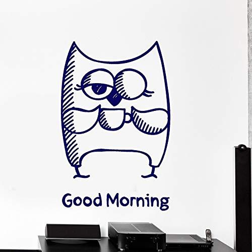 zqyjhkou Eule Wandtattoos Niedlichen Tiere Wandaufkleber Für Wohnzimmer Guten Morgen Worte Cool Decor Removable Home Decoration Wallpaper H119 56x85 cm (Naruto Laptop Haut)
