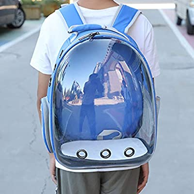 sayletre Pet Carriers Puppy Bags Dogs Cats Carrying Backpack Rabbits Rucksack Portable Pup Pack with Space Capsule Bubble Design 13.78 x 9.84 x 16.54 Inches from sayletre