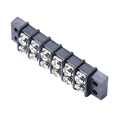 Dandeliondeme Doppelreihige Reihenklemme 6-Position 450V 32A Zweireihiger Sperrblock Schraubklemmenleiste Blockierwerkzeug