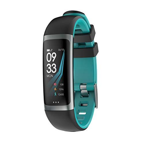 VRTUR Smartwatch Damen Android Sport Armband Pulsuhr, Bewegungsmelder,Schlafmonitor,Fernbedienung,Erinnerungsfunktion, Zustandsüberwachung, Schrittzähler Himmelblau